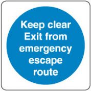 Mandatory Safety Sign - Keep Clear Exit 086
